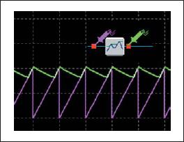 Осциллограмма и условное обозначение пикового детектора
