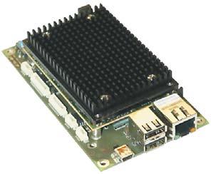 Рис. 2. Система готова к работе: плата-носитель и модуль nanoETXexpress-SP с радиатором