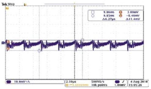 Пульсации и шумы выходного напряжения SBB503R3S