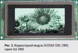 Индикаторный модуль GU256X128C-3900, серия GU-3900