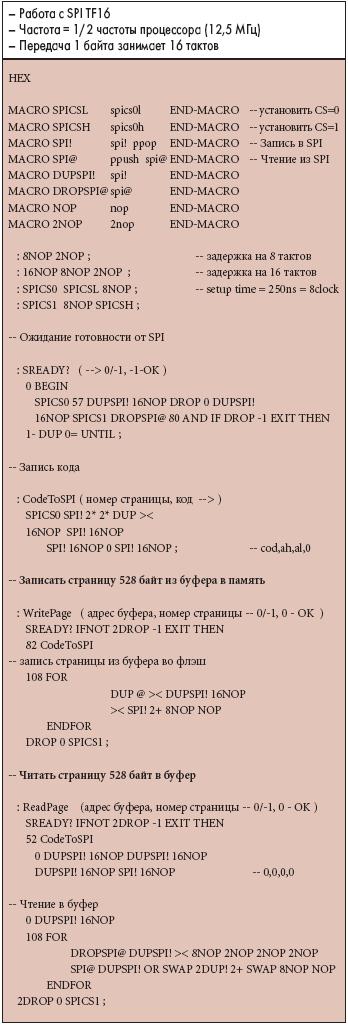 Таблица 15. Драйверы Flash-диска