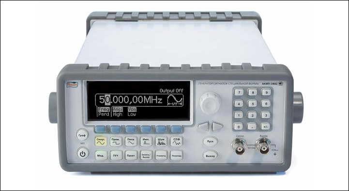 Рис. 1. Внешний вид генератора АКИП-3402