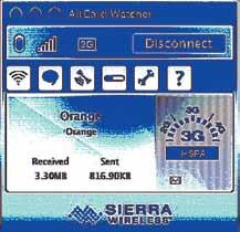 Интерфейс программы Sierra Wireless Watcher