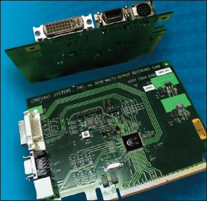 Рис. 5. Пример использования видео кодеров серии CX2590x на плате, с обменом данными через PCI шину