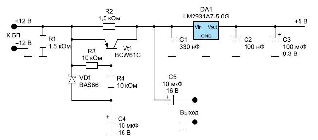 Схема простого генератора шума