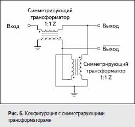 Конфигурация с симметрирующими трансформаторами