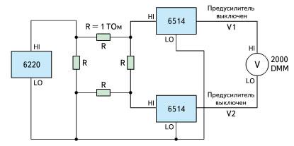 Усовершенствованная 4-точечная схема измерения