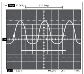 Осциллограммы контрольного сигнала