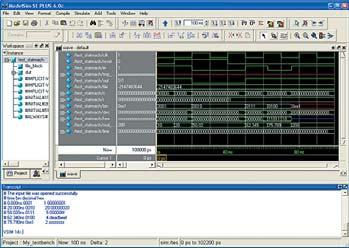 Сигналы для модуля test_statmach изображены в окне Wave