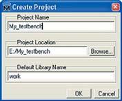 Задание имени проекта, пути к файлам проекта и название рабочей библиотеки