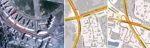 Треки «ГеоС-3М» в городских условиях