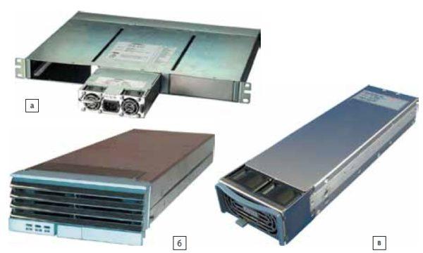 AC/DC-преобразователи c горячей заменой серий:  а) FPS;  б) TH;  в) HFE