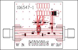 Оценочная плата HMC414MS8G на материале FR4