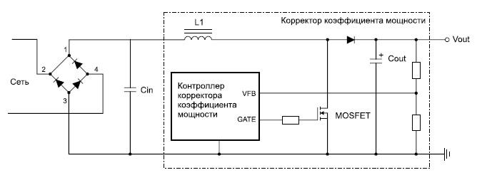 Структура корректора коэффициента мощности