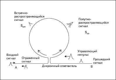 Схема нелинейного оптического петлевого зеркала на основе интерферометра Саньяка