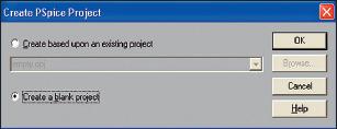 Рис. 2. Диалоговое окно Create PSpice Project