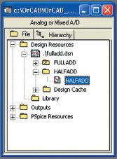 Рис. 25. Диалоговое окно Project Manager с добавленной папкой HALFADD