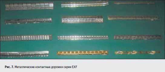 Металлические контактные дорожки серии EXF
