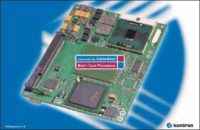 Встраиваемый модуль Kontron ETXexpress-CD на базе процессора Intel Core2 Duo с тактовой частотой 2,16 ГГц
