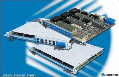Сверхпроизводительная AdvancedTCA-плата Kontron AT8030, имеющая три двуядерных процессора Intel Core2 Duo и потребляющая в процессе работы всего 140 Вт