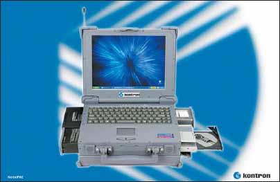 Защищенный ноутбук Kontron NotePAC Duo на базе малопотребляющего процессора Intel Core Duo
