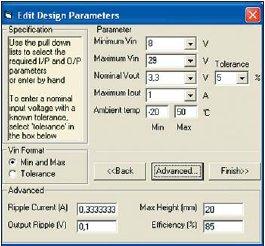 Рис. 4. Внешний вид окна ввода параметров