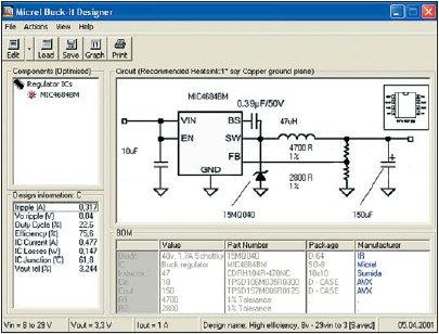 Рис. 5. Вид главного окна программы при завершении процесса проектирования