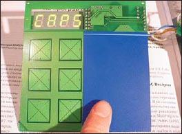 Клавиатура с установленным тестовым покрытием