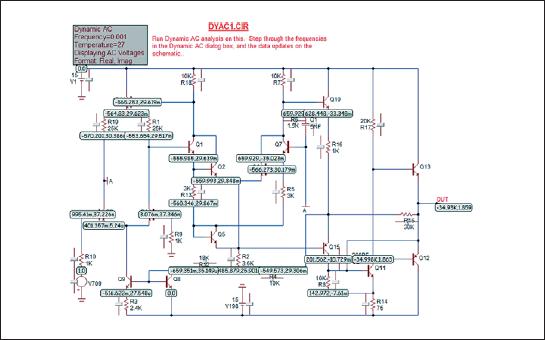 Отображение результатов расчета режима Dynamic AC