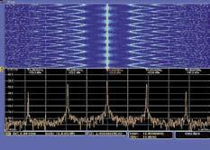 Окна спектрограммы (сверху) и спектра (снизу)