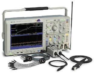 Осциллограф MDO4000 с пробниками цифровых и обычных аналоговых сигналов