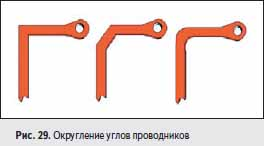 Округление углов проводников