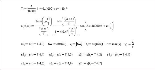 Программный код модели КАФМ-сигнала