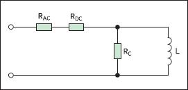 Модель эквивалентных потерь мощности в катушке индуктивности