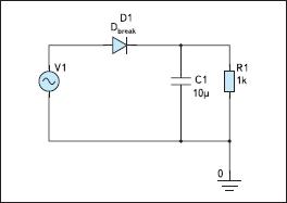 Схема однополупериодного выпрямителя
