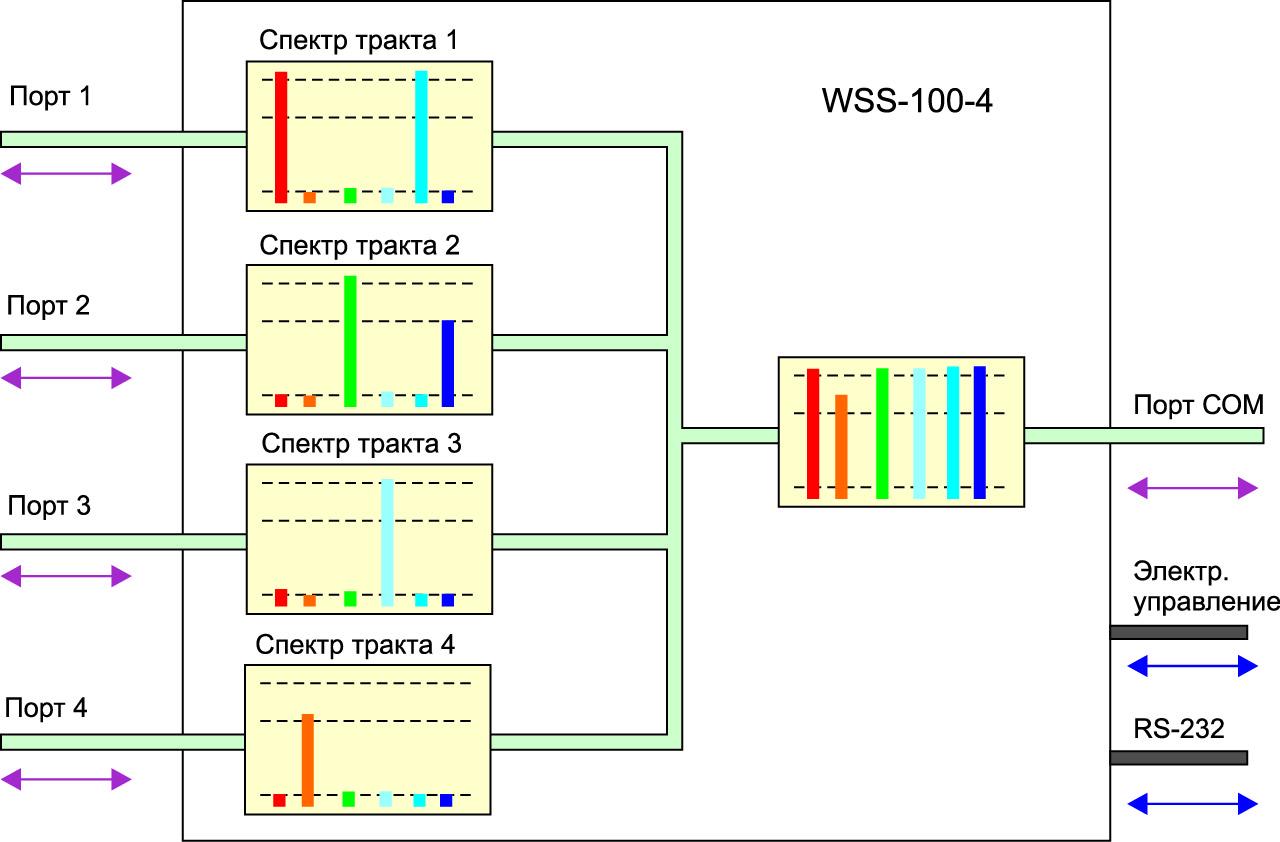 Структурная схема модуля WSS-100-4