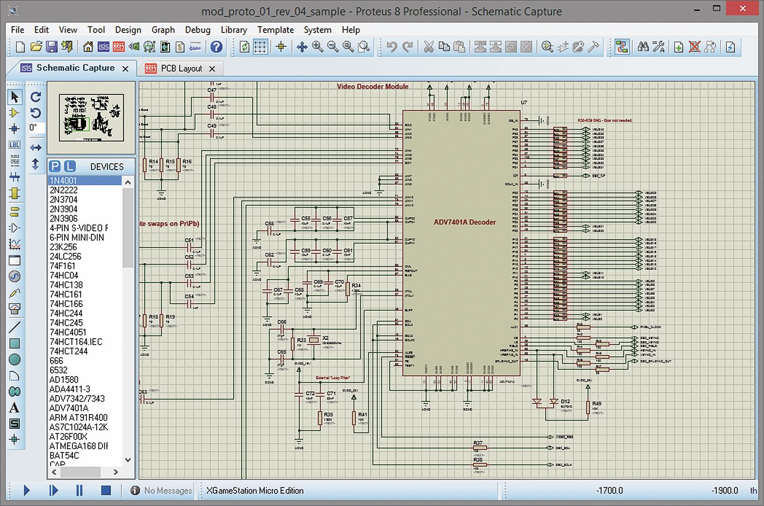 Интерфейс программы Proteus 8.1