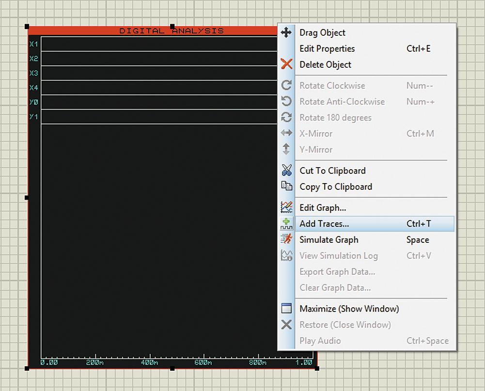 Добавление пробников напряжения на график при помощи команды контекстного меню Add Traces