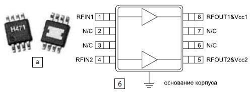 Функциональная диаграмма микросхемы HMC471MS8G/HMC471MS8GE