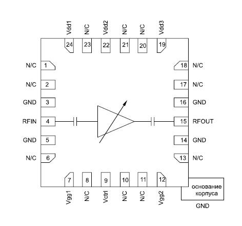Функциональная диаграмма микросхемы HMC694LP4