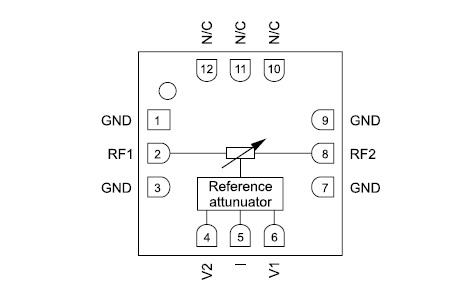 Функциональная диаграмма микросхемы HMC346