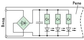 Рис. 6. Реле переменного тока трехфазные с управлением переменным напряжением