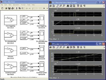 Диаграмма модели оценки состояния тиристора в статике