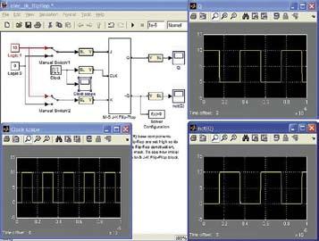 Диаграмма модели для просмотра состояний тактируемого J-K-триггера