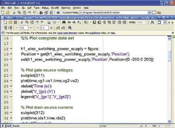 Окно редактора программного кода