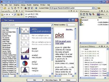Просмотр каталога графики MATLAB R2011a