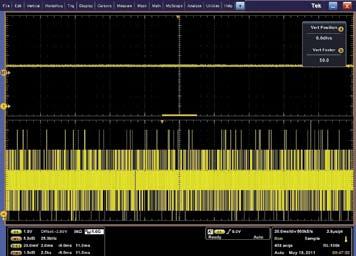 Осциллограммы напряжения источника питания, снятые 8-битным осциллографом другого производителя