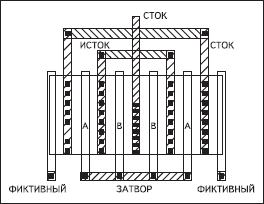 Пример топологии пары согласованных транзисторов