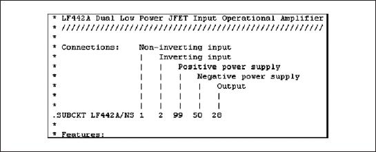 Описание модели LF442A/NS