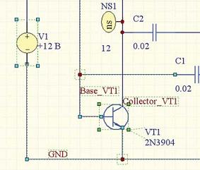 Рис. 1. Копирование части схемы на другой лист. b)